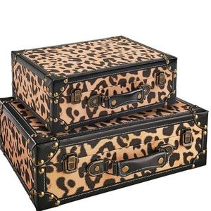 {Pier 1} Leopard Decorative Storage Box